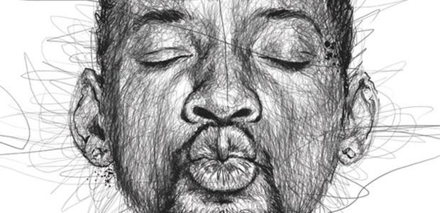 Impresionantes retratos garabateados del ilustrador Vince Low