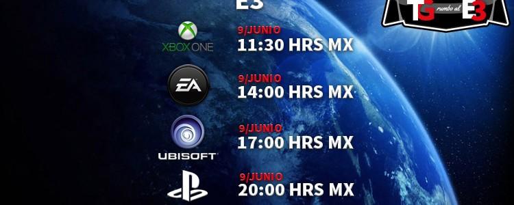 Horarios de las conferencias de E3 2014