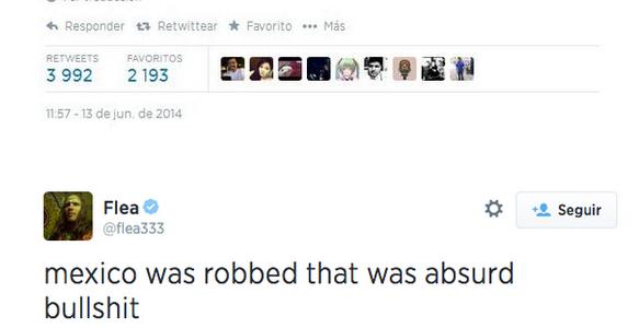 Bajista de Red Hot Chili Peppers se indignó por el robo a Gio