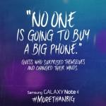 Samsung se burla del iPhone 6 nada más ser anunciado