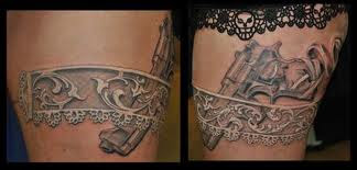 suspender belt tattoo
