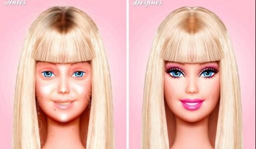 Barbies humanas sin maquillaje