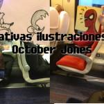 Creativas ilustraciones de October Jones realizadas en sus viajes en tren