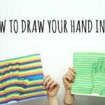 ¿Cómo realizar un sencillo e increíble dibujo tridimensional de una mano?
