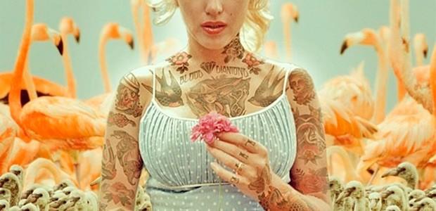 Celebridades míticas tatuadas en el arte digital de Cheyenne Randall