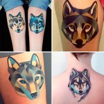 Los coloridos tatuajes geométricos de Sasha Unisex