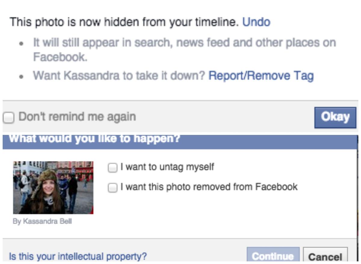 Facebook-untag