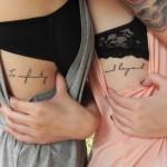 Tatuajes entre hermanas