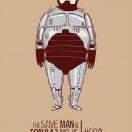 Ilustración de Daniel Cuello, divertidas caracterizaciones cinematográficas