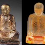 Encuentran momia en el interior de una estatua de Buda