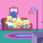 Los Simpson en Pixel Art de 8 bits