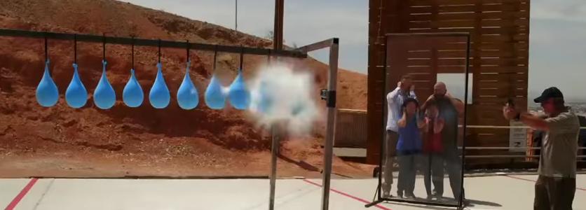 ¿Cuántos globos se necesitan para detener una bala?