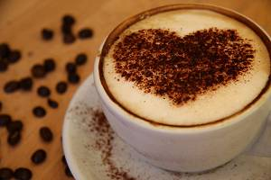 Latte-art-corazón