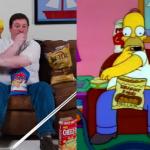 Este hombre imita a Homero Simpson a la perfección