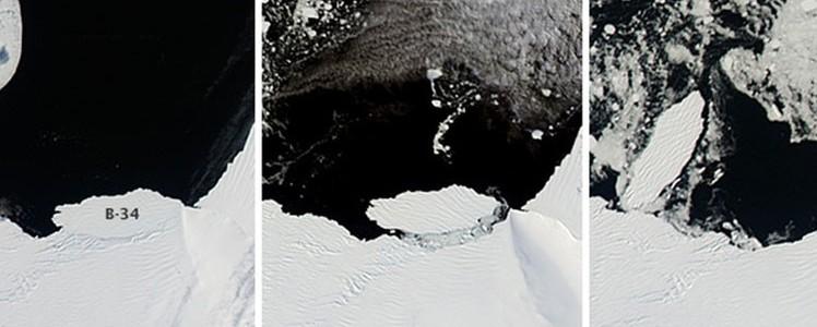 El nacimiento de un iceberg monstruoso en la Antártida captado por la NASA