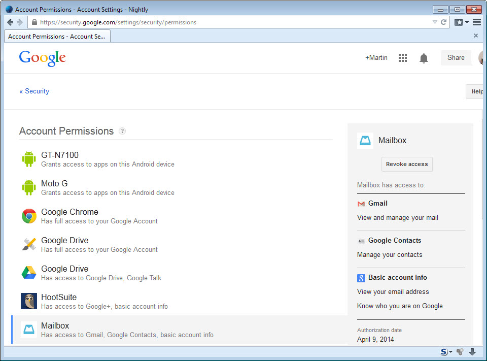 mailbox-google-account-access