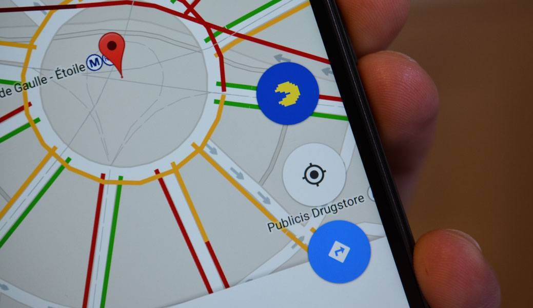 pacman-android-google-maps