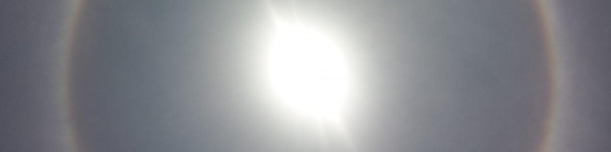 Halo solar en la Ciudad de México (21 de Mayo 2015)