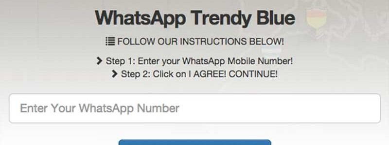 WhatsApp Trendy Blue app pirata para cobrarte el servicio