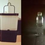 Lámpara que funciona con sal y agua