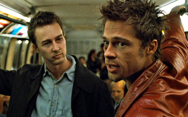 Fight Club (1999)Edward Norton and Brad Pitt(Screengrab)