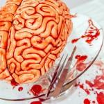 Pastel en forma de cerebro