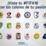 Diseña la portado de tu FIFA 16 con los colores de tu equipo